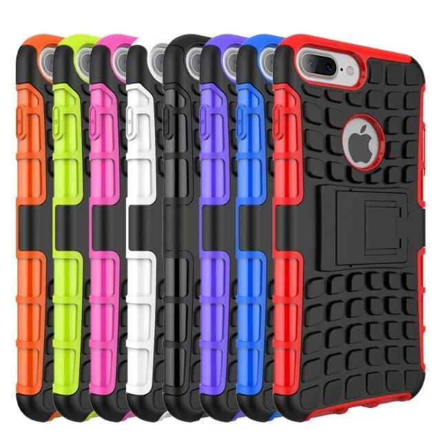 Para Iphone x armadura híbrida soporte duro PC suave TPU funda de silicona para el Iphone 6 7 7 plus x XS x XS Max Samsung S8 Nota 8 S9 S9 plus