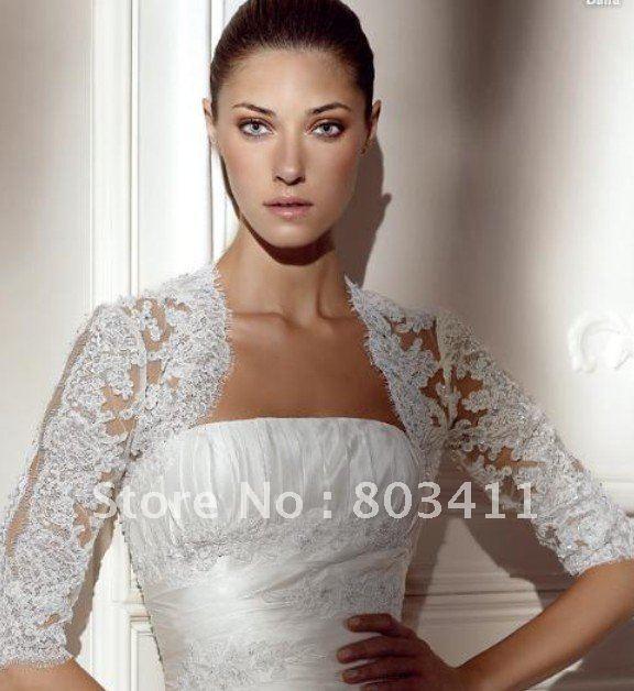 freeshipping custom made best selling elegant lace bridal bolero jacketchina mainland