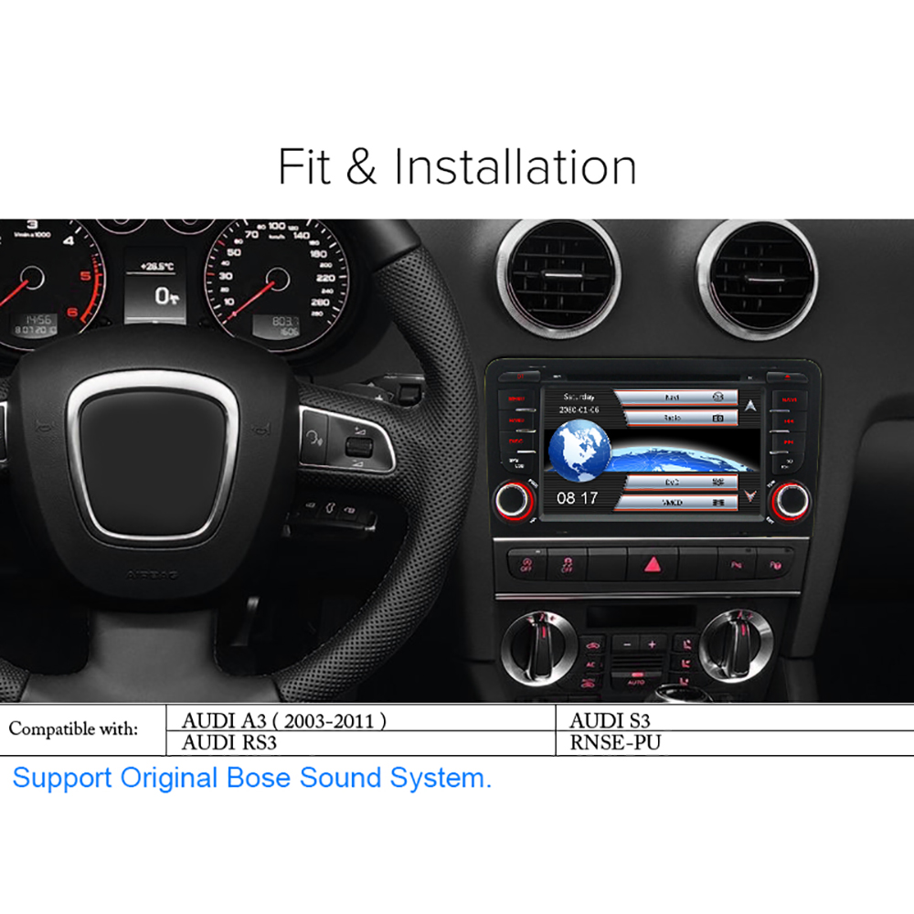 A-Sure 2 Din Car Radio DVD GPS- ը նստած էր մեքենայի - Ավտոմեքենաների էլեկտրոնիկա - Լուսանկար 3