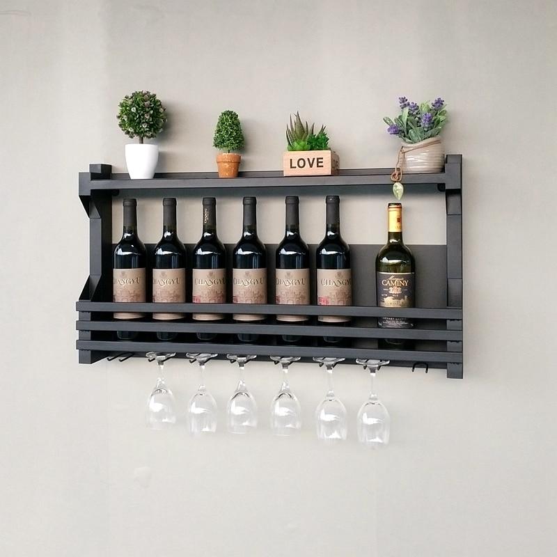 Creative Iron Wine Rack Hanging Wine Holder Storage Shelf Goblet Glass Frame Wine Holder