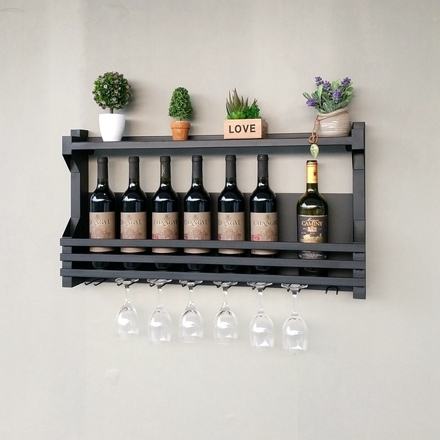 com holder glasses wine hanging bottles dp and cork amazon mounted holds wall home rack