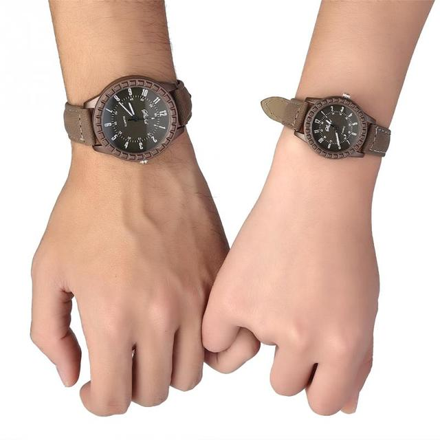 Fashion Couple Watches Popular Casual Quartz Watch Lover Gift Clock Women Men Bo