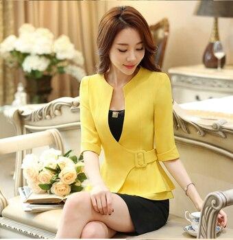 New J43703 Black Color Business Suit Blazer Fashion Autumn Women Blazers and Jackets Work Office Lady Suit Slim Coat 1