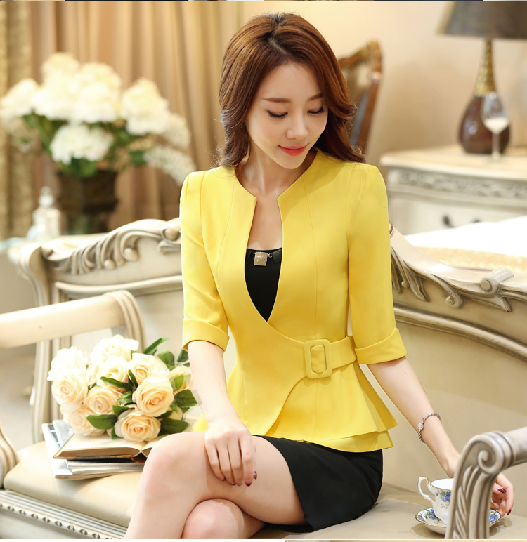 New J43703 Black Color Business Suit Blazer Fashion Autumn Women Blazers and Jackets Work Office Lady Suit Slim Coat