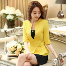 New J43703 Black Color Business Suit Blazer Fashion Autumn W