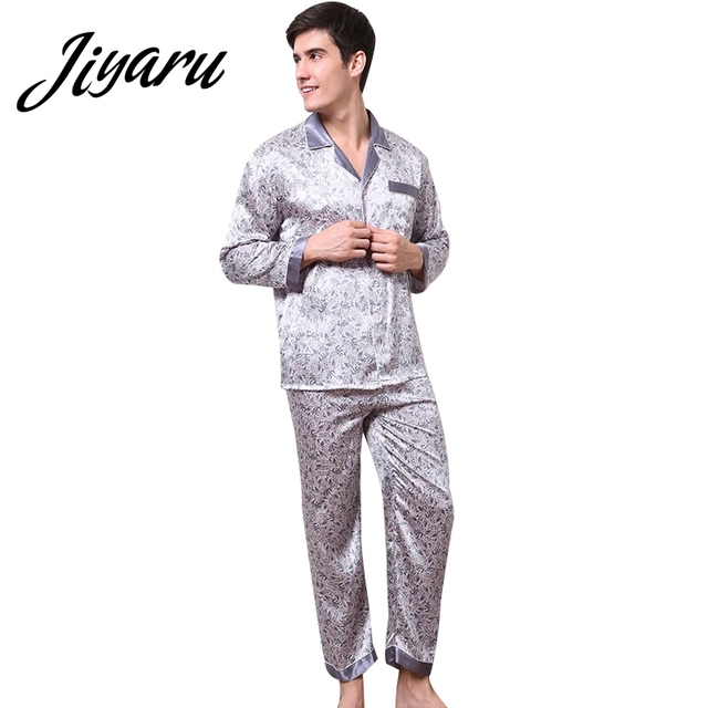 44227a7072 Home Sleepwear for Men Boys Comfortable Men Pajama Sets Male Casual Home Nightgowns  Men Autumn Long