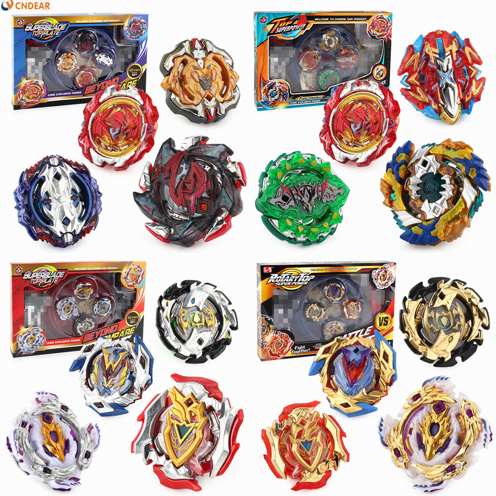 4pcs/set Beyblade Burst Toys With Launcher Starter and Arena Bayblade Metal Fusion God Spinning Top Bey Blade Blades Toys