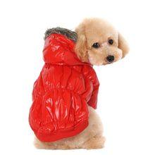 Новые Зима Теплая Мелких Животных Собаки Кошки Зима Стеганый Жилет Пальто Щенок Теплая Вниз Флисовые Куртки Одежда