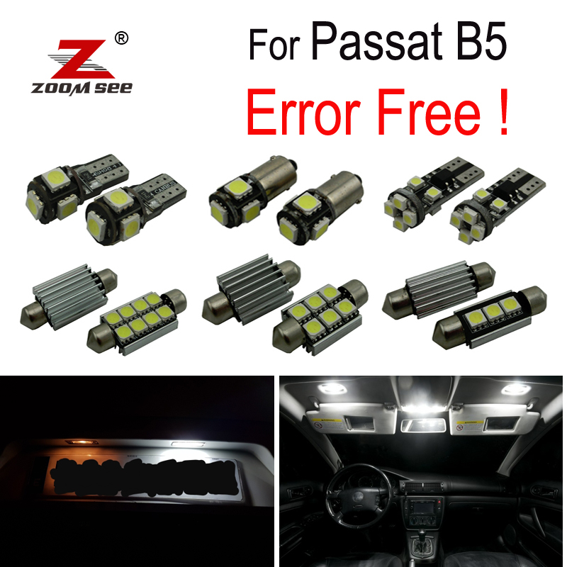 17pcs LED lamp Interior dome map Light Kit for Volkswagen VW Passat B5 Saloon Variant License plate bulb (1997-2005)