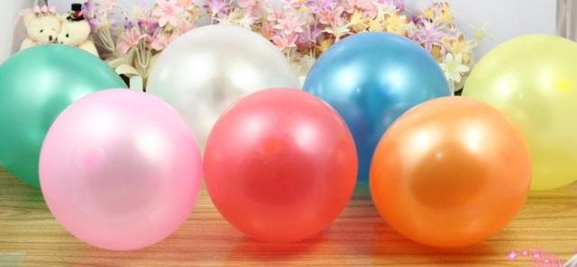 HOT SALE Free 50pcs 1.6g/pc Latex Helium Thickening Pearl Wedding Party Birthday