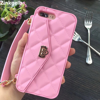 For IPhone 7 Plus Case Cover Luxury Cute 3D Soft Silicone Slim Full Cover Protective Girls