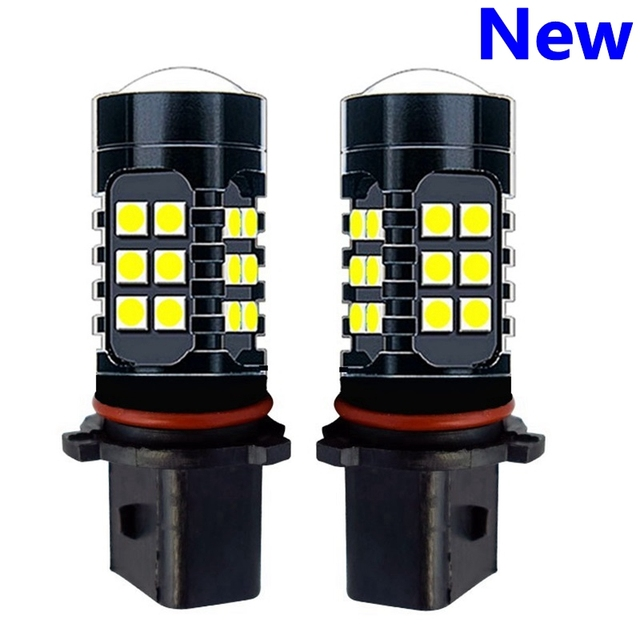 2Pcs P13W PSX26W Super Bright 1200Lm 27 SMD 3030 LED Auto Front Fog Lamp Car Daytime Running Lights DRL Driving Bulb 6000K White