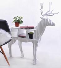 Деревянный Рождественский олень стол Новый дизайн Европейский 100% березы лося край стола олень форма животных шкаф украшения украшения дома