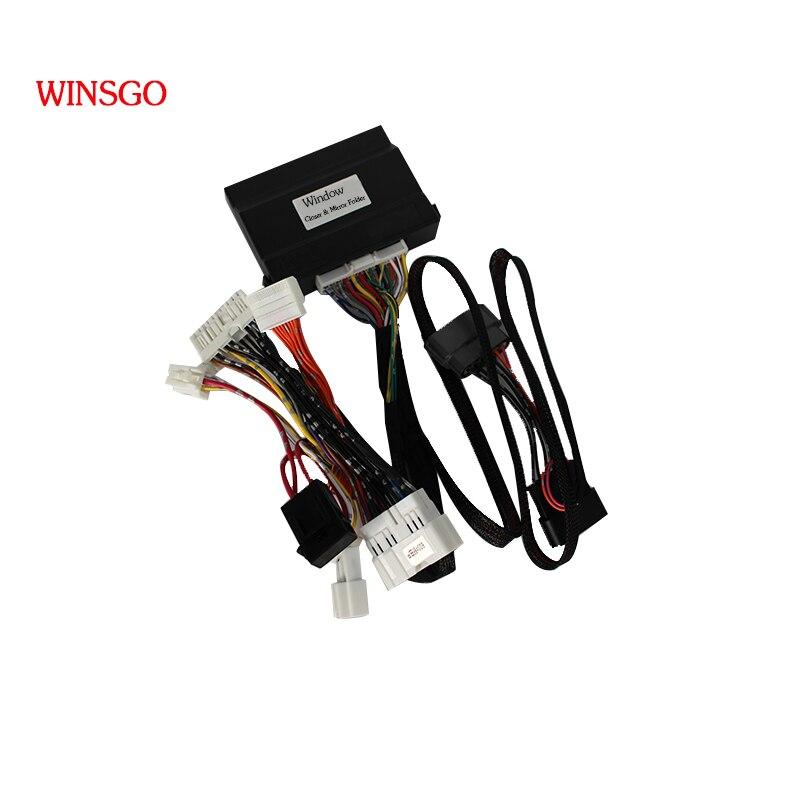 WINSGO Free shipping Car Window Closer Closing & Open Mirror Folder Spread For Nissan X-Trail/Qashqai 2014-2018