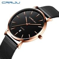 Модные мужские часы классические деловые мужские ультратонкие сетчатые кварцевые наручные часы Топ люксовый бренд спортивные водонепрони