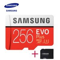 Новый оригинальный продукт SAMSUNG EVO карты памяти Micro SD карты памяти 256 ГБ Class10 U3 4 K HD Скорость чтения до 100 МБ/с. (модель 2017)