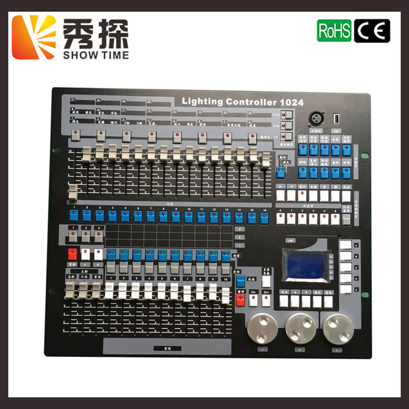 SHOW TIME Kingkong 1024 DMX Controller Stage light DMX console for XLR-3 led par beam moving head DJ light stage effect light new stage light controller 192ch dmx512 controller for stage dj equipment in led par moving head beam christmas laser projector