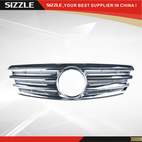 4 Fence Plastic All Chrome Front Grille For Mercedes C Class W203 2000 2006 CL Style