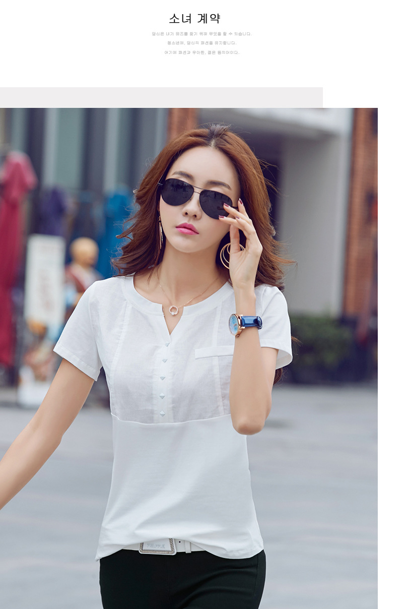Short Sleeve T Shirt Girls Casual Tops Tees Slim O neck Female Cotton Tops