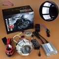 2016 Nueva Linterna de La Motocicleta Hid Bi xenon Lente Del Proyector Kit de la Linterna Del Faro Con Ojo Del Ángel de CCFL Halo accesorios de Motos