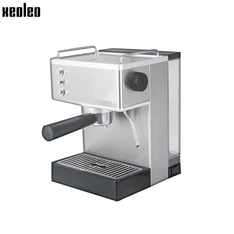 Xeoleo Coffee maker 15Bar Espresso machine 1050W Espresso Coffee machine Household Stainless steel ULKA Pump coffee make 2.2L original ulka ep5 electromagnetic coffee machine medical apparatus pumps