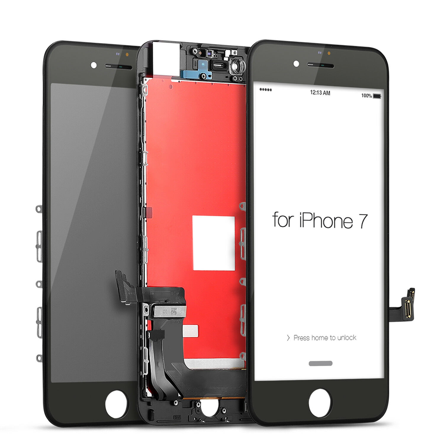 Black&White For iPhone 7 LCD Display touch screen digitizer compatible with 4.7 inch <font><b>A1778</b></font> A1660 mobile phone Ecran Pantalla lcd image