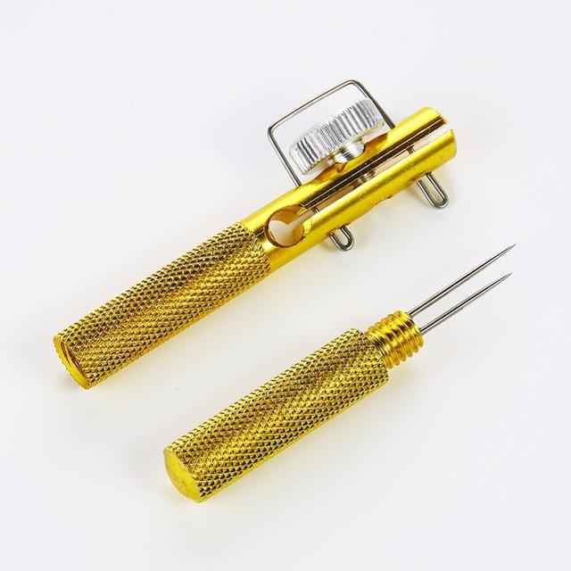 Full Metal Fishing Hook Knotting Tool & Tie Hook Loop Making Device