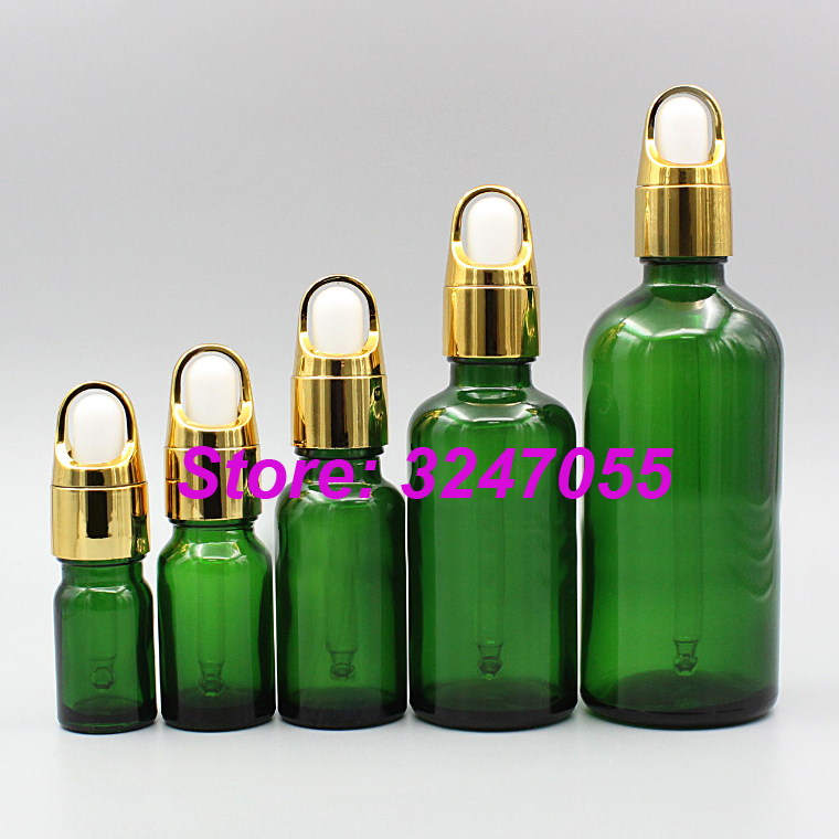 5ml10ml15ml20ml50ml100ml Empty Glass Cosmetic Essential Oil Bottle, Green Cosmetic Dropper Bottle n Glass Pipette, Makeup Tools 10pcs lot empty white glass cosmetic spray bottle facial lotion refillable bottle cosmetic toner bottle diy glass cream jar