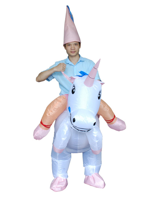 4d032968c00a Animal Themed Halloween Costumes For Women Men Children Inflatable UNICORN  Costume Fan Blowing Suits Carnival Costumes