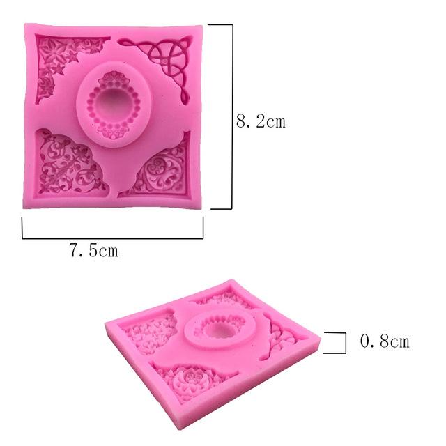 European lace embossed silicone mold DIY fondant cake mold, fondant chocolate soap mold, decorative baking tray M173