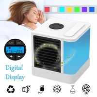 Summer 7 Colors Mini Air Conditioner Artic Air Cooler LED/LCD Timer USB Personal Space Cooler Fan Air Cooling Fan Device