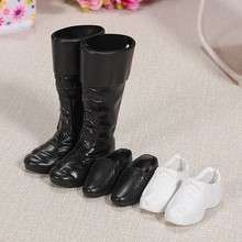 3pairs lot Fashion Doll Shoes Boots Sneakers Shoes For Ken Dolls Accessories For Barbie Boyfriend Ken