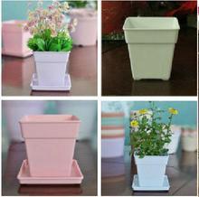 Роман горшок пластиковый цветочный горшок полный квадрат ваза для цветов с рабочего стола супер красивая