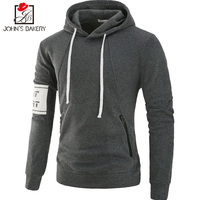 John S Bakery Brand 2018 New Hoodies Brand Men Solid Color Sweatshirt Male Hoody Hip Hop
