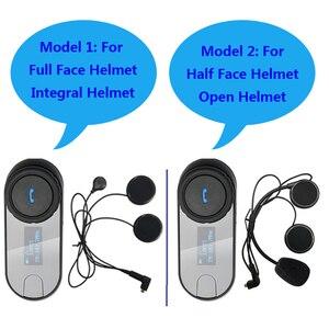 Image 2 - Nieuwe Bijgewerkte Versie!! Motorrijwiel Bt Bluetooth Multi Interphone Headset Helm Intercom T COM Lcd scherm Fm Radio