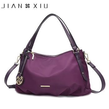JIANXIU Brand Women Luxury Handbags Waterproof Oxford Fabric Foldable Design Tassel Pendant Shoulder Crossbody Bag Large Tote