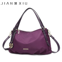 JIANXIU Brand Women Luxury Handbags Waterproof Oxford Fabric Foldable Design Tassel Pendant Shoulder Crossbody Bag Large Tote