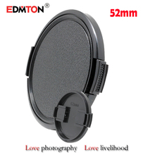 Wholesale 1pcs/lot 52mm Digital camera Lens Cap Safety Cowl Lens Entrance Cap for Sony Canon Nikon 52mm DSLR Lens free transport