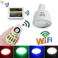 Mi Light 2 4G RGBW Warm LED Spotlight Bulb Lamp 4W GU10 4 Zone RF Touch