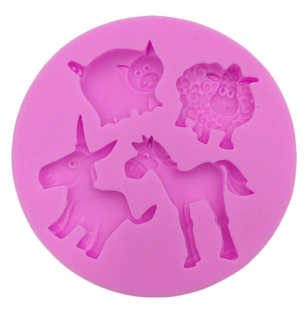baking donkey horse sheep cooking tools wedding decoration Silicone Mould baking Fondant Sugar Craft DIY Cake candy
