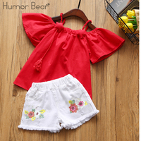 Humor Bear Baby Girl Clothes 2018 Brand Girls Clothing Sets Kids Clothes Baby Bay Clothes Toddler