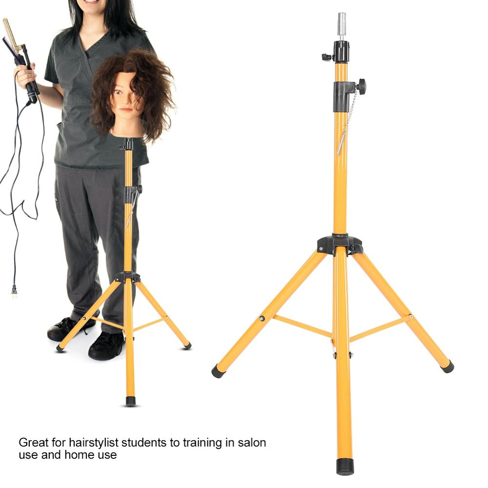 Adjustable Wig Stand For Mannequin Training Head Holder Hairdressing Clamp Tripod Stand Holder Hair Stying Tool