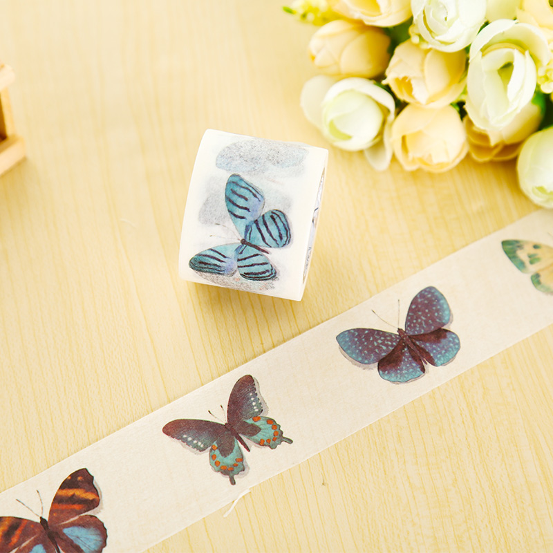 3cm*7m Raining Butterfly washi tape DIY decorative scrapbook planner masking tape office adhesive tape stationery 3cm 7m raining butterfly washi tape diy decorative scrapbook planner masking tape office adhesive tape stationery