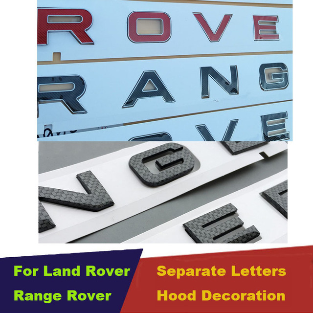 Diy Carbon Fiber Separate Briefe Vorne Oder Zurück Auto Emblem Abdeckung Aufkleber Buchstaben Zubehör Für Range Rover Sport Evoque
