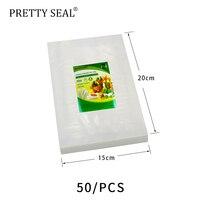 PRETTYSEAL vacuum sealer bags stretch film Food Pouch Set maintaining foods' taste and freshness 50PCS 15*20cm plastic bag