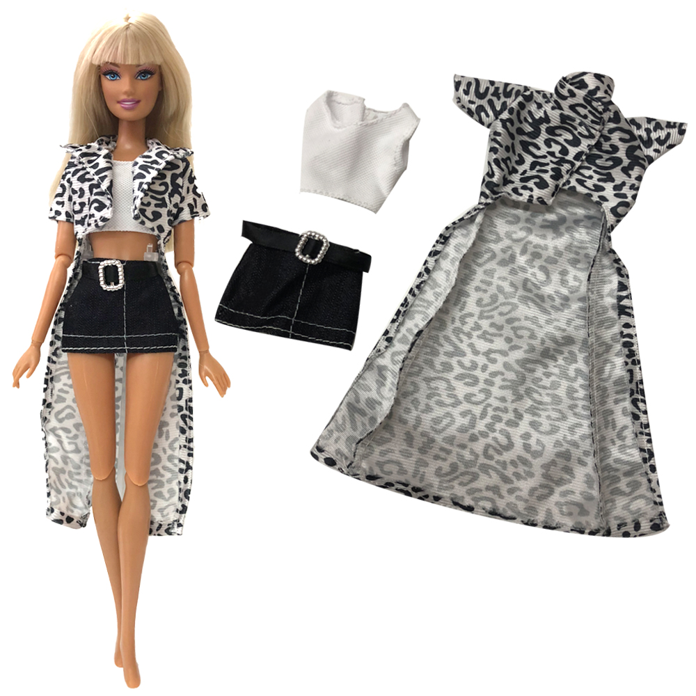 NK 2020 One Set Doll Clothing Fashionable Top+Shorts Casual Suits For Barbie Doll  Gift Baby Toy Doll Accessories Child Toy DZ
