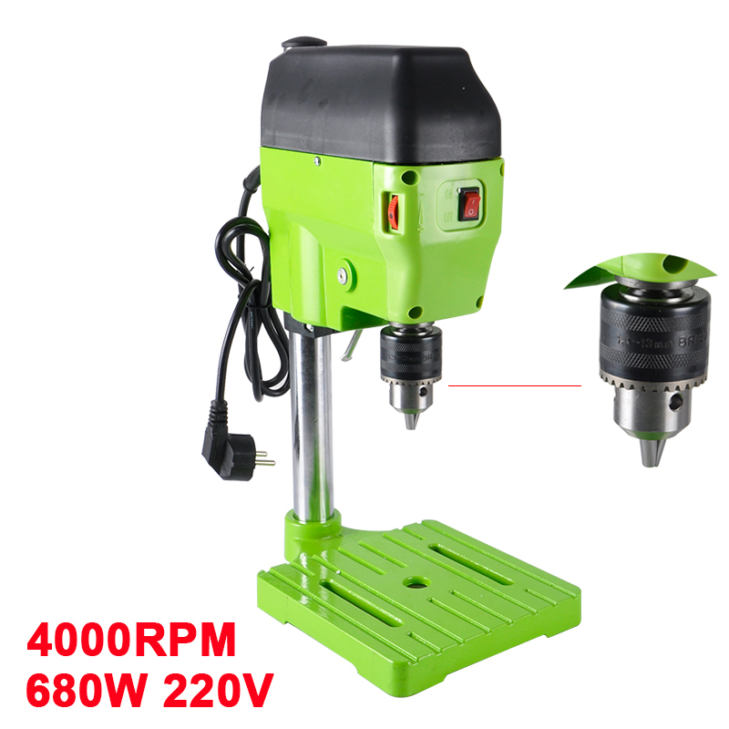 680W 220V Electric Drills BG-5166E Mini Drilling Machine 4000RPM Bench Drill CNC Milling Engraving For DIY Wood Metal Electric 211pcs electric mini die grinder engraving machine set eu plug milling polishing drilling metal jewelry restoration wood process