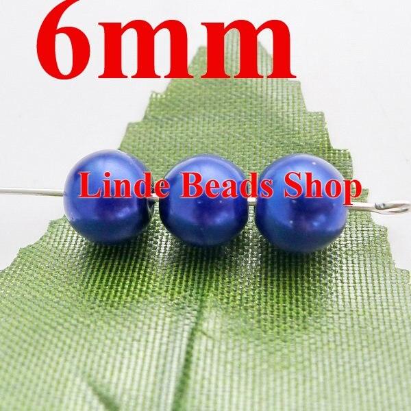 ჱ750 unids/lote 6mm perlas de vidrio de Navidad ornamento redondo ...