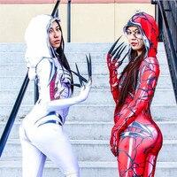 Red Carnage Venom Spider Man Scarlet blood Gwen Stacy Cosplay Costume Spiderman Zentai Superhero Bodysuit Suit Jumpsuits