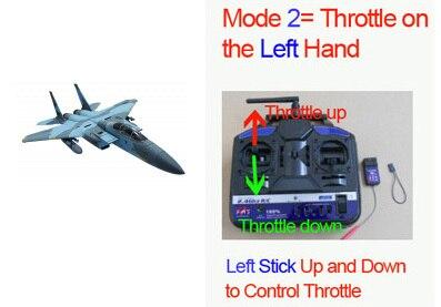Без батареи, радиоуправляемый самолет модель F15 пустынный камуфляж-готов к полету - Цвет: Blue Camo Mode 2